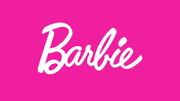 Pink Barbie Logo Pink Background