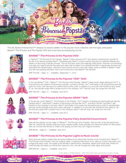 Barbie The Princess and & Popstar Merchandise Announcement
