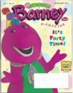 Barney Magazine - It's Party Time!