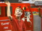Michael as a firefighter