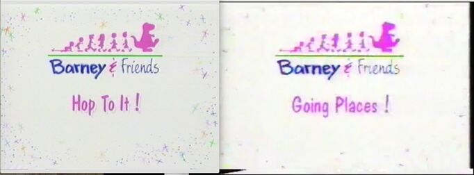 Same as Hop To It! and Going Places! (Engineer In Charge RANDY PATRICK) (Horrible Barney Doll) (Same Barney Says Segment Logo (1992)