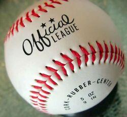 Baseball (ball) closeup