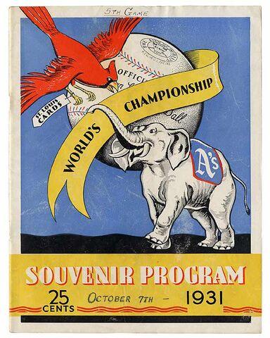 File:1931 World Series Program.jpg
