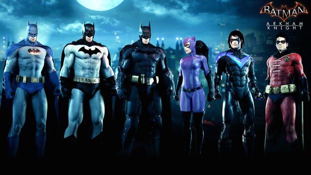 File:Bat-Family Skin Pack ArkhamKnight.jpg