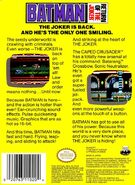 Batman - Return of the Joker NES back cover