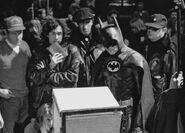 Keaton and Burton backstage 10