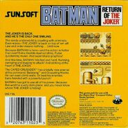 Batman - Return of the Joker Game Boy back cover
