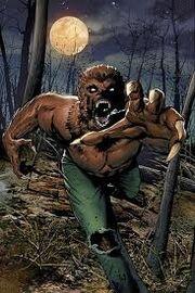 Werewolf half wolf