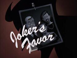 Joker's Favor Title Card