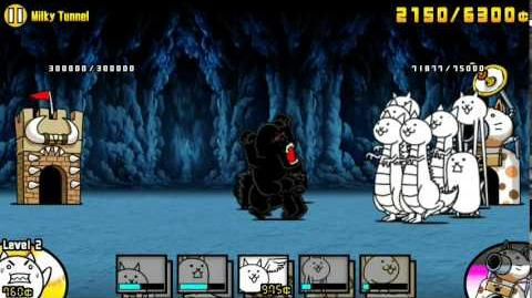 The Battle Cats - Milky Tunnel - Walkthrough by Nurse Wuffa