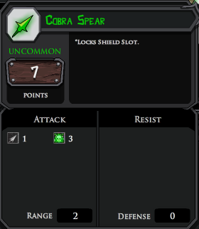 Cobra Spear profile