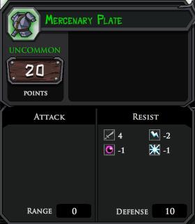 Mercenary Plate profile