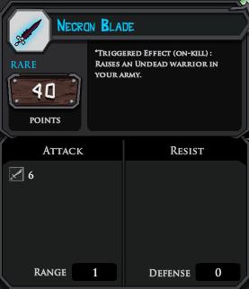Necron Blade profile