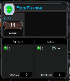 Poison Elemental profile