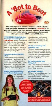 Nickelodeon Magazine June July 2001 lisa winter interview battlebots mecha tentoumushi