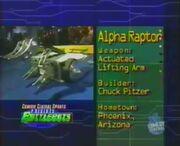 Alpha raptor stats 1.0