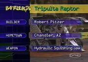 Tripulta raptor stats 2.0