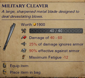 Military Cleaver