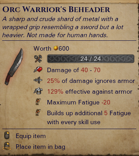 Orc Warrior's Beheader