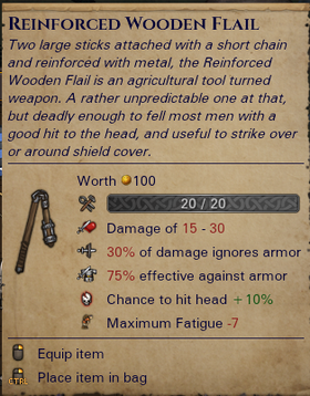 Reinforced Wooden Flail