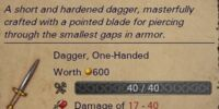 Unique Dagger