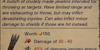Bundle of Crude Javelin