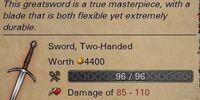 Уникальный двуручный меч