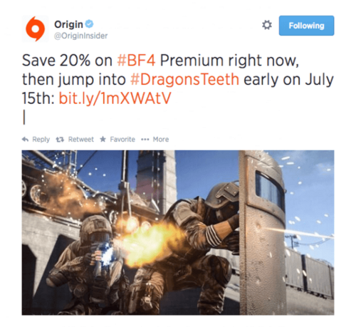 Origin DT Tweet
