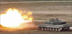 Leopard 2 Firing