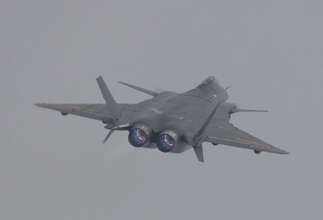 File:J-20 Mighty Dragon Chengdu J-20 fifth generation stealth, twin-engine fighter aircraft prototype People's Liberation Army Air Force OPERATIONAL weapons aam bvr missile ls pgm gps plaaf (2).jpg