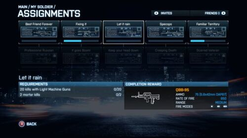 BF3 assignments
