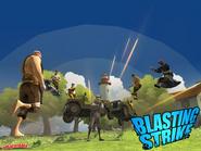 Blasting strike