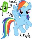 Leafy VS Rainbow Dash