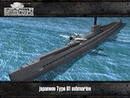 Type B1 submarine render