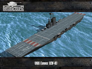 Essex-class aircraft carrier render