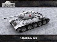 T-34-76 Model 1943 render 2