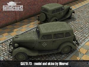 GAZ-11-73 render 1