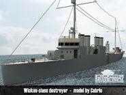 Wickes-class destroyer render