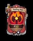 Melee 0 CARD HERO FLAMING AXE