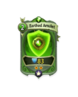 Ranged 1 CARD HERO EARTHED AMULET