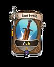 Melee 0 CARD HERO BLUNT SWORD