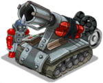 Veh artillery napalm front