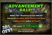 Advancement Sale January 2015