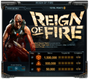 Reign of Fire Event Details