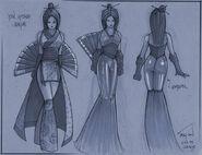 Serpent Fan Geisha