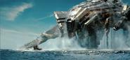 Battleship movie alien ship