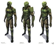 The Chilean Space Corps uniforms