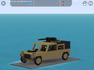 Land Rover Jeep with Cover and Roof