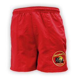 Baywatch-lifeguard shorts