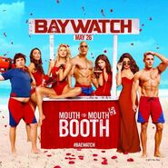 Baywatch Valentines Day Kissing Booth promo